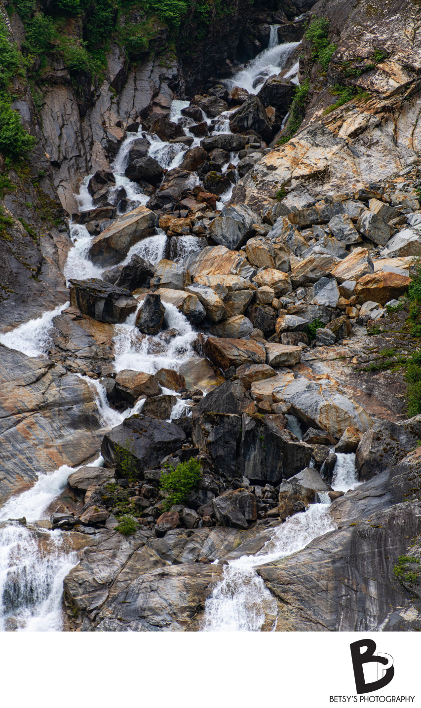 Waterfall at the Endicott Arm + Dawes Glacier, Alaska
