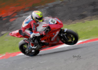 Motorcycle Racing Painting