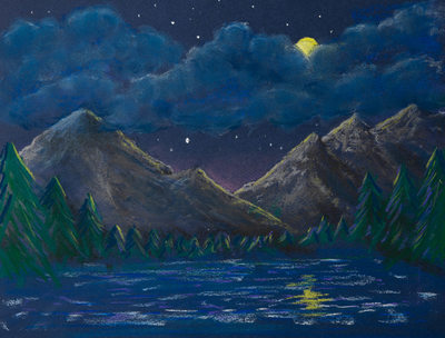 Mountains by Moonlight