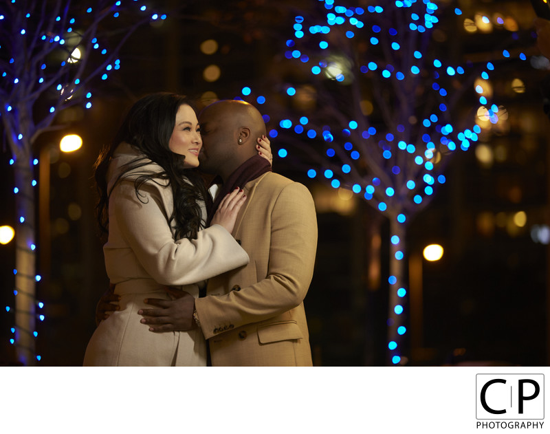 Aleen Lee and Lateef Eyiowuawi Radisson Blu Aqua Chicago Engagement Session