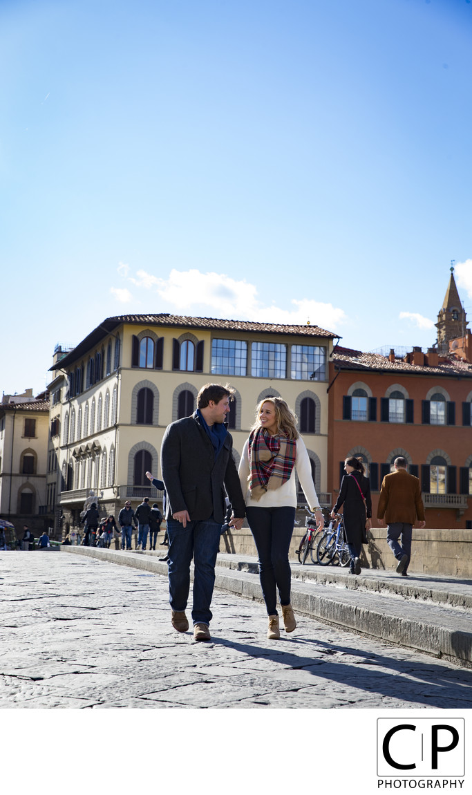 Kyle and Courtney Italy Destination Engagement