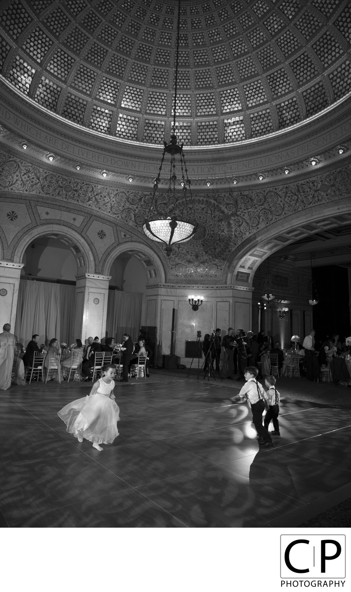 Laura Langer and John Ballou Chicago Cultural Center Wedding
