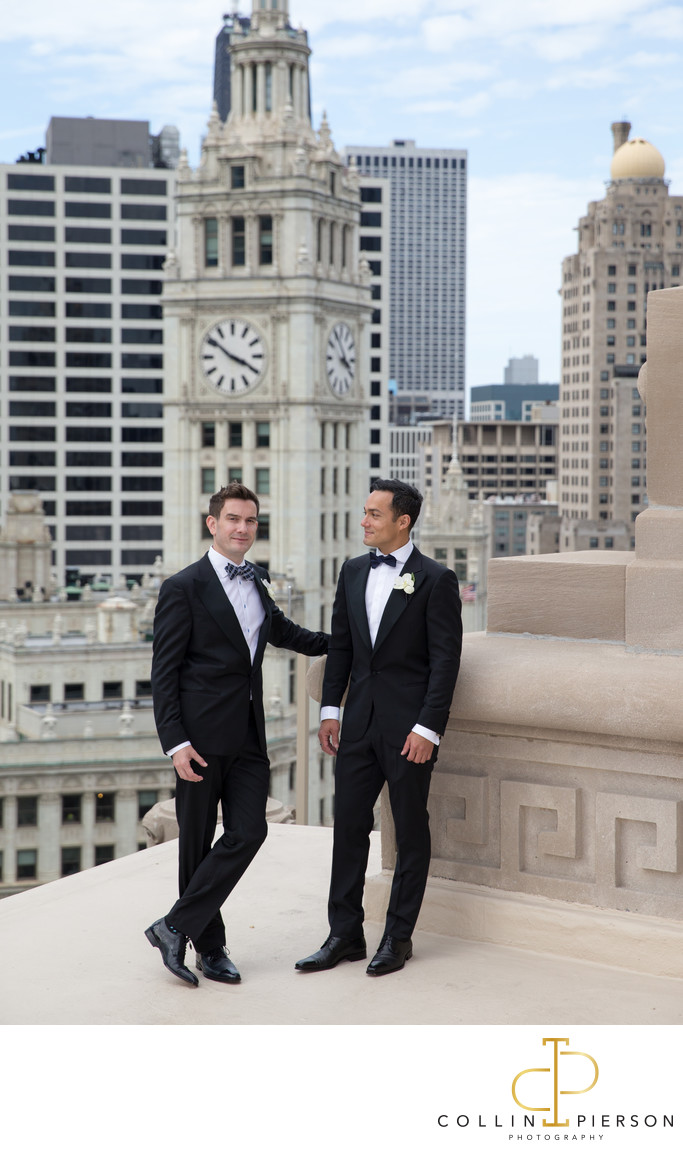 Diarmuid Moran and Omar Castro London House Chicago Wedding