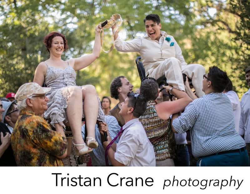 Jewish brides do the hora, by photographer Tristan Crane