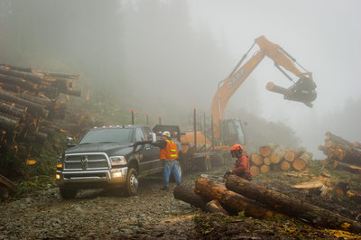 Heavy construction equipment photography in BC, Canada