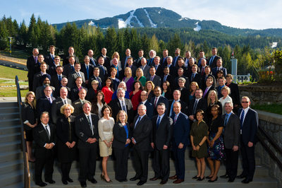 Corporate group photo in Whistler Canada