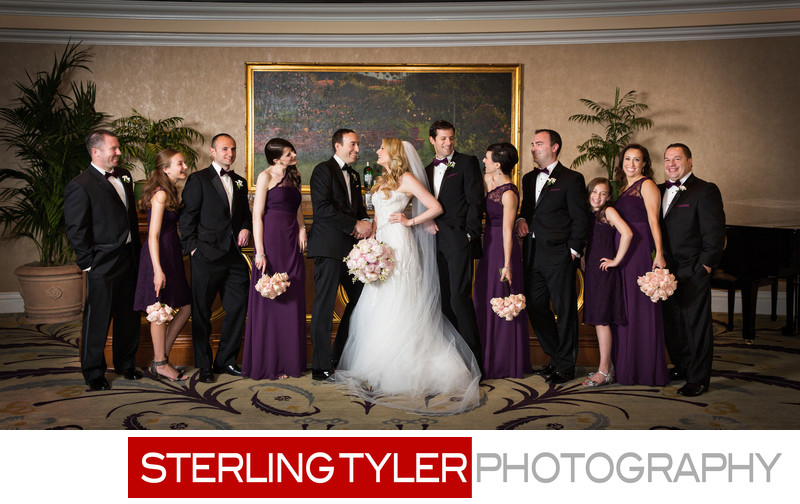 vogue wedding party portrait photography beverly hills