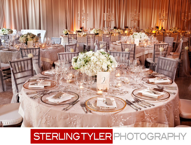 wedding reception table top detail photograph napa valley