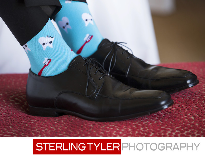 beverly wilshire hotel groom custom sock detail photo