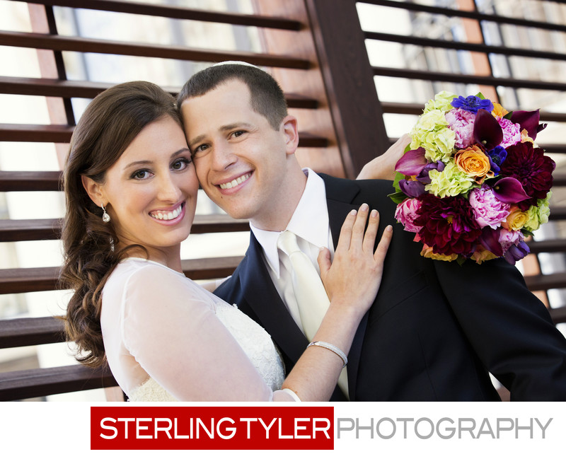 beverly wilshire hotel wedding portrait bride and groom
