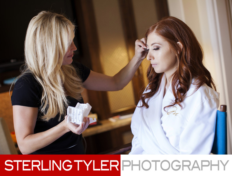 beverly hills bride with makeup artist ron ann frey