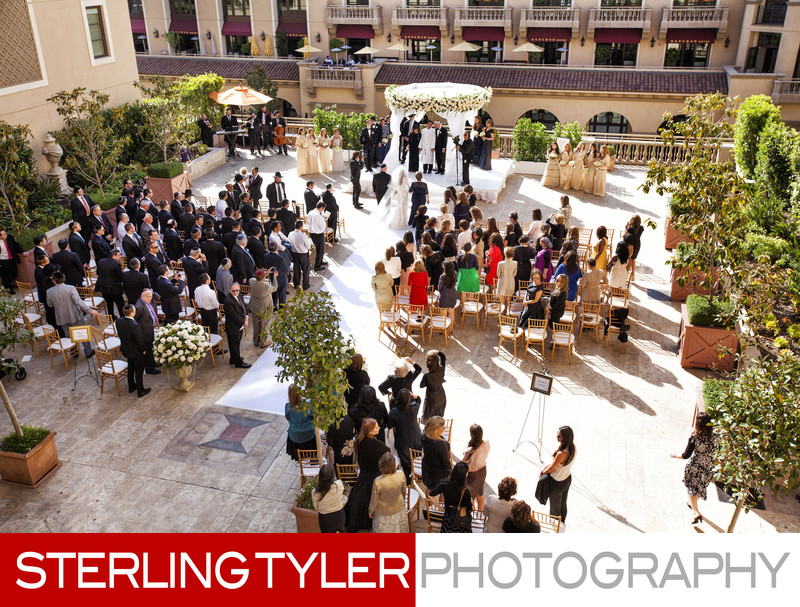 wedding ceremony at montage beverly hills photographer