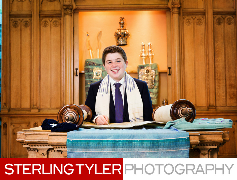 bar mitzvah with torah los angeles portrait photographer