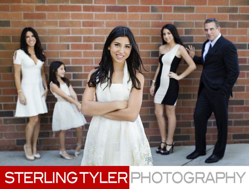 best bat mitzvah photographer family portrait