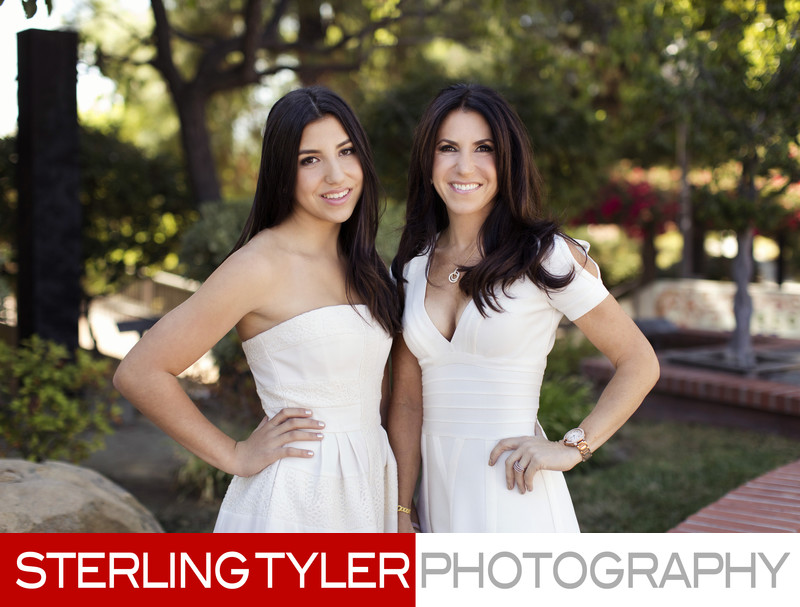 bat mitzvah girl with mom photograph
