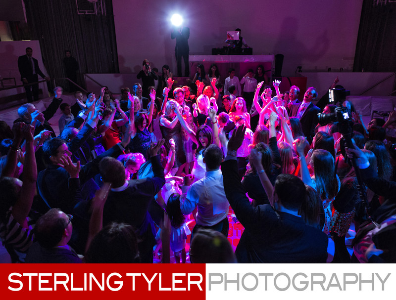 bat mitzvah party spotlight la lighting