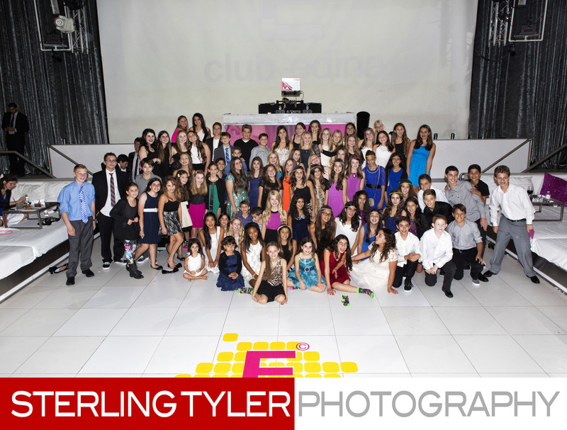 bat mitzvah group kids photograph supper club la