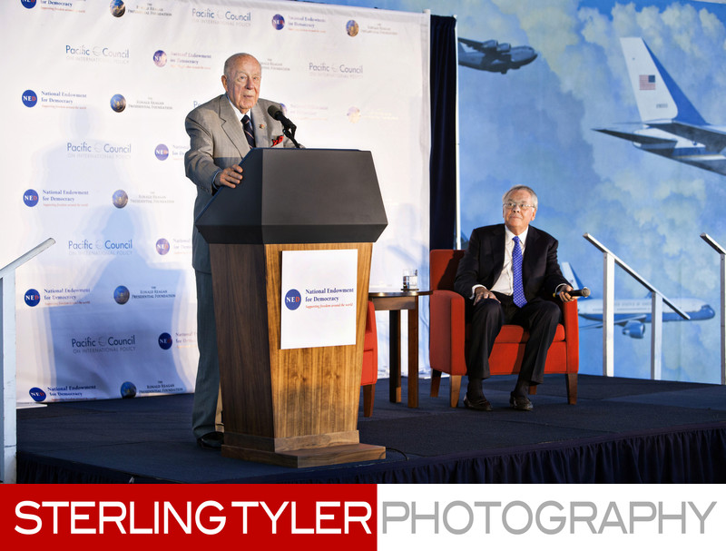 George Shultz at Reagan Library Simi Valley Photographer