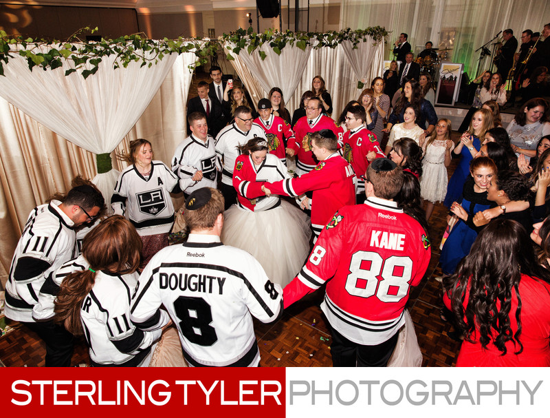 chicago blackhawks and los angeles kings theme wedding dance
