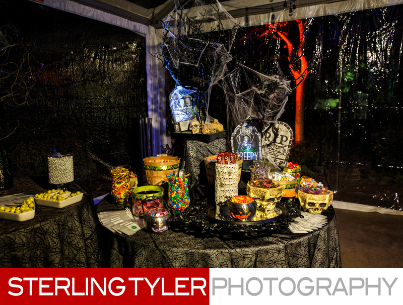 Halloween candy display at bat mitzvah