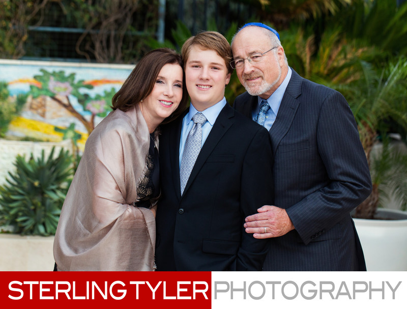 natural light bar mitzvah family portrait