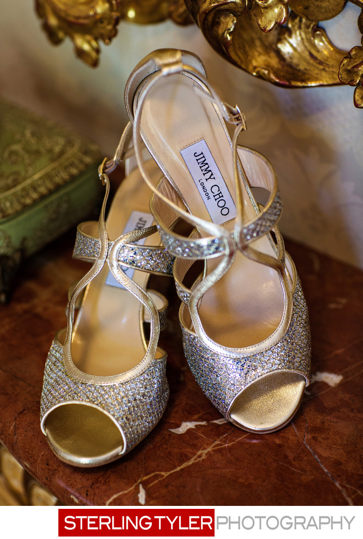 jimmy choo wedding shoes at beverly hills hote