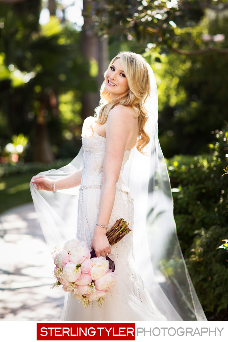 stunning bride garden wedding beverly hills hotel