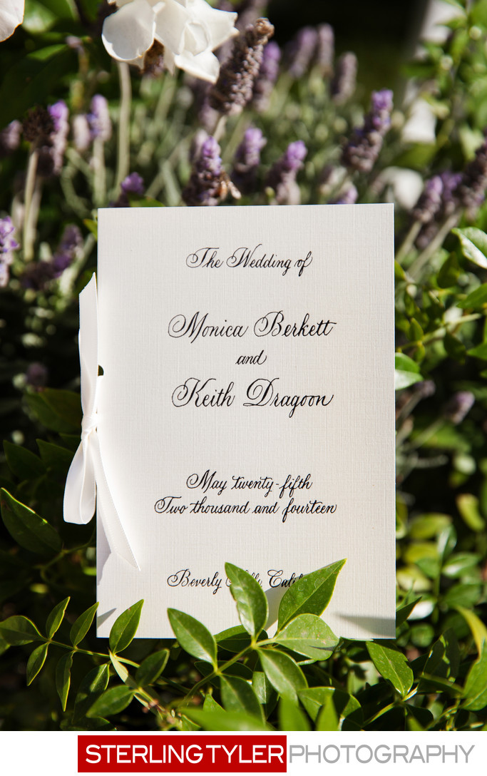 beverly hills hotel wedding program los angeles photographer
