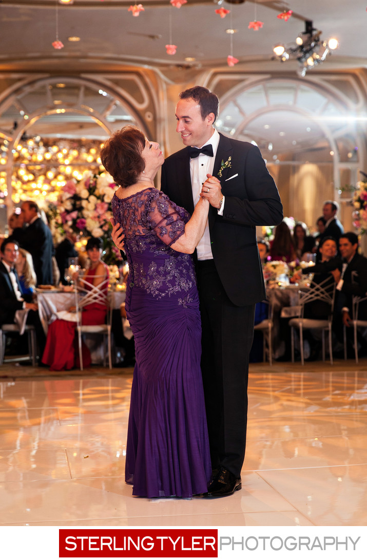 mother son dance crystal ballroom wedding candid