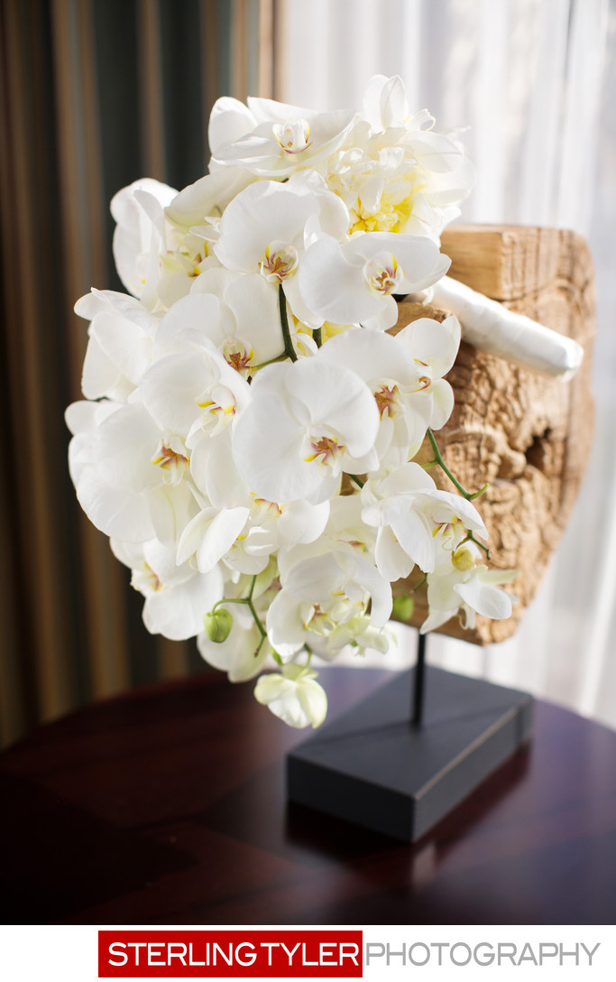 white phalaenopsis orchid bridal bouquet at sheraton universal