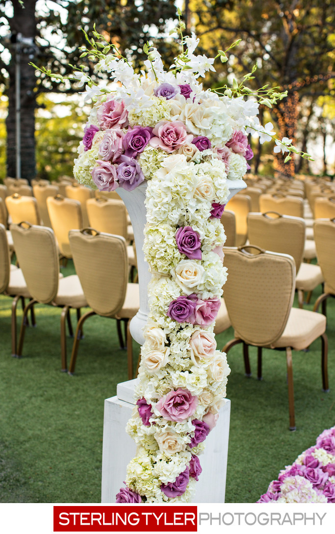 wedding flowers at universal sheraton