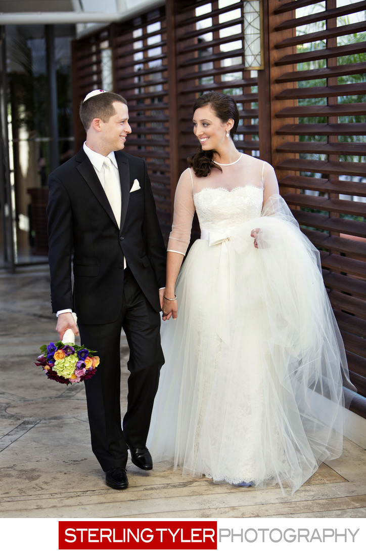 bride and groom candid photograph beverly wilshire hotel