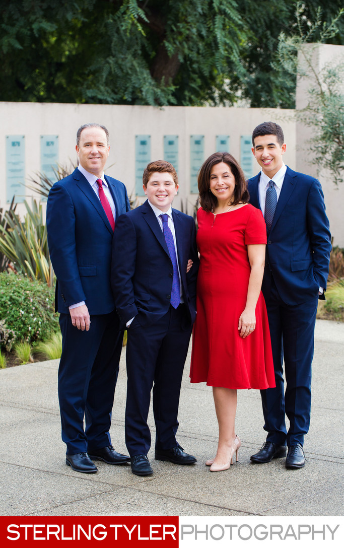 bar mitzvah family portrait photographer los angeles