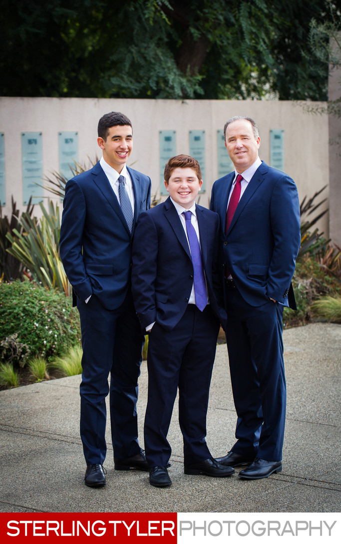 father with sons los angeles bar mitzvah photographer