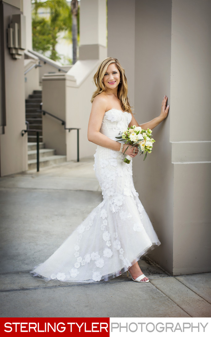 monique lhuillier dress beverly hills wedding portrait photography