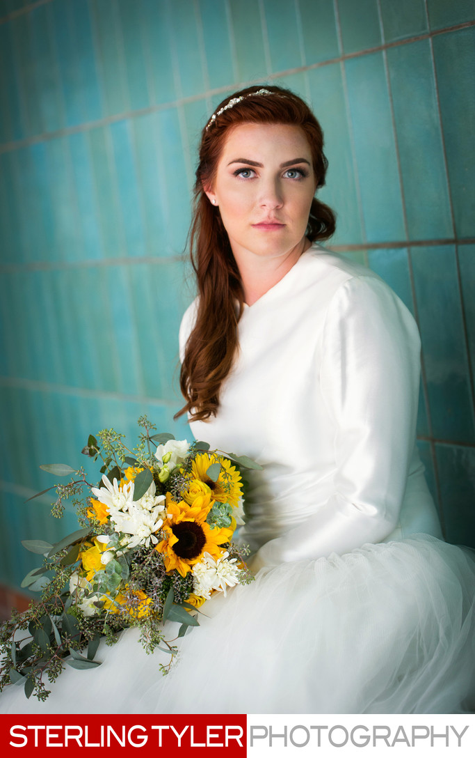 beautiful bride portrait los angeles photographer sterling tyler