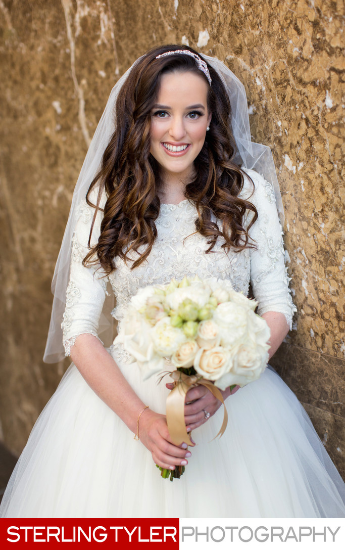Beautiful bridal portrait photography  Westin LAX hotel
