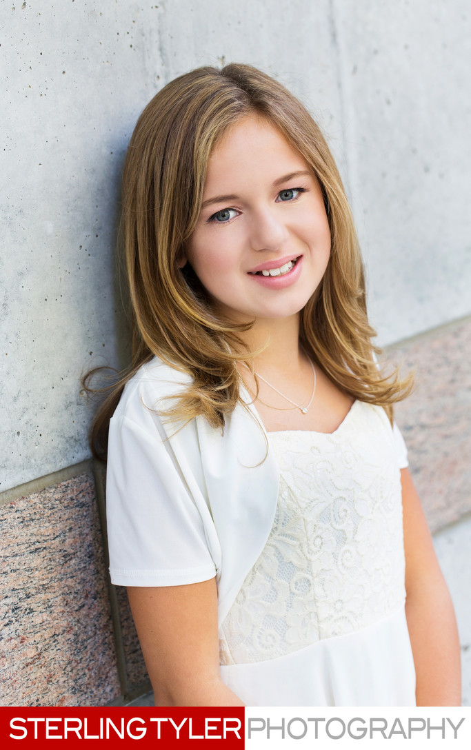 Bat Mitzvah portrait at the Skirball Center