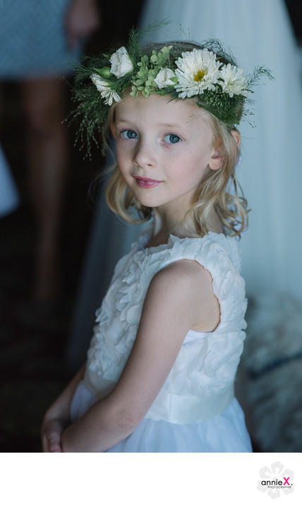 Flower girl in Tahoe city
