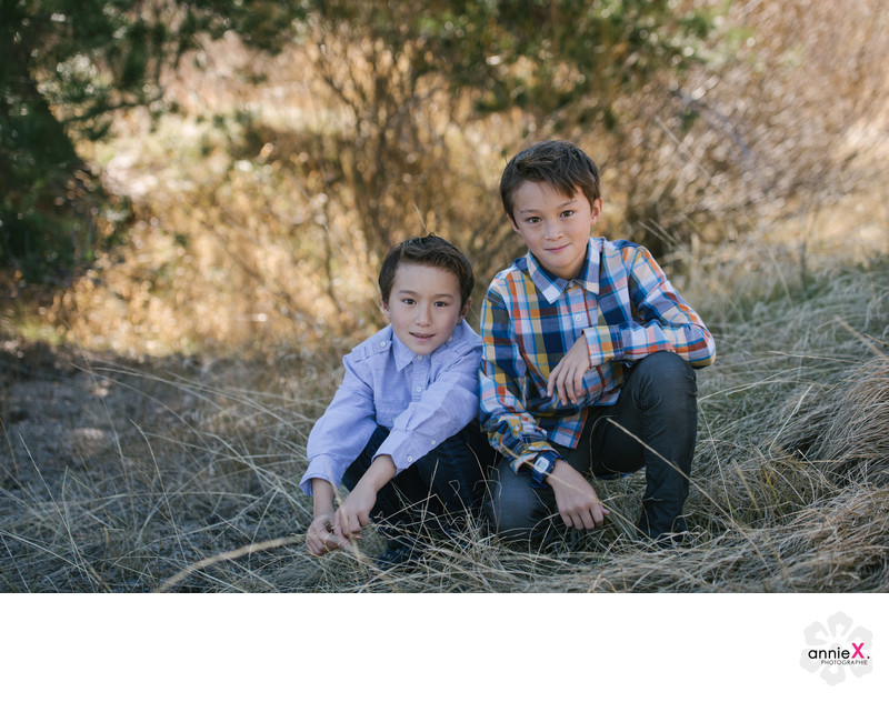 Squaw valley family session two boys