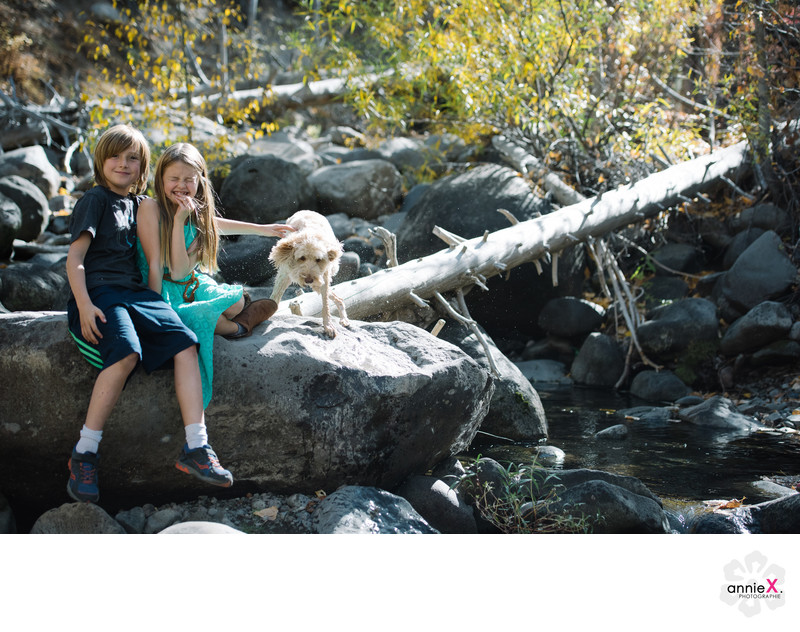 Lifestyle family and dog Photographer Fall