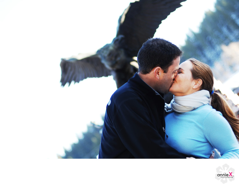 Truckee eagle engagement portrait