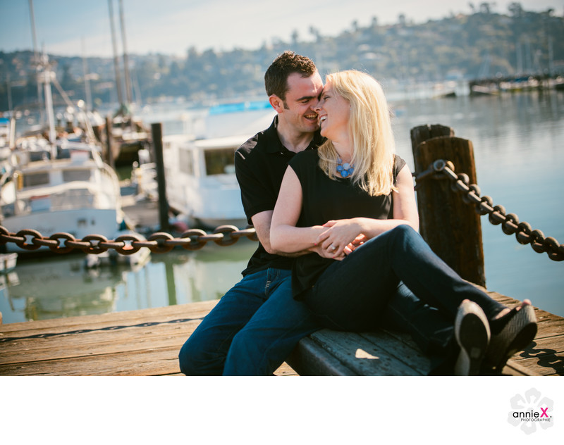 Professional Photographer in downtown Sausalito