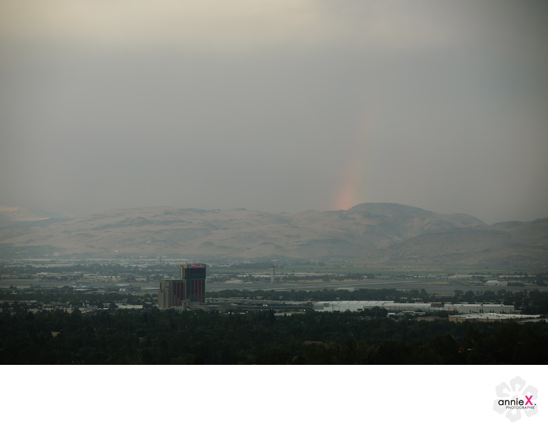 rainbow like over Reno