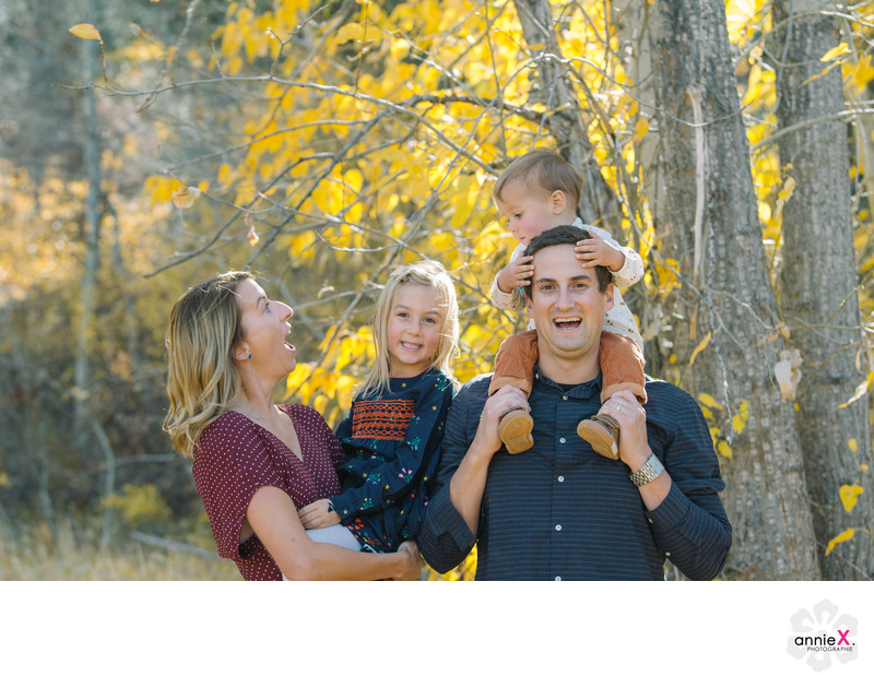Locations for family portraits in Tahoe