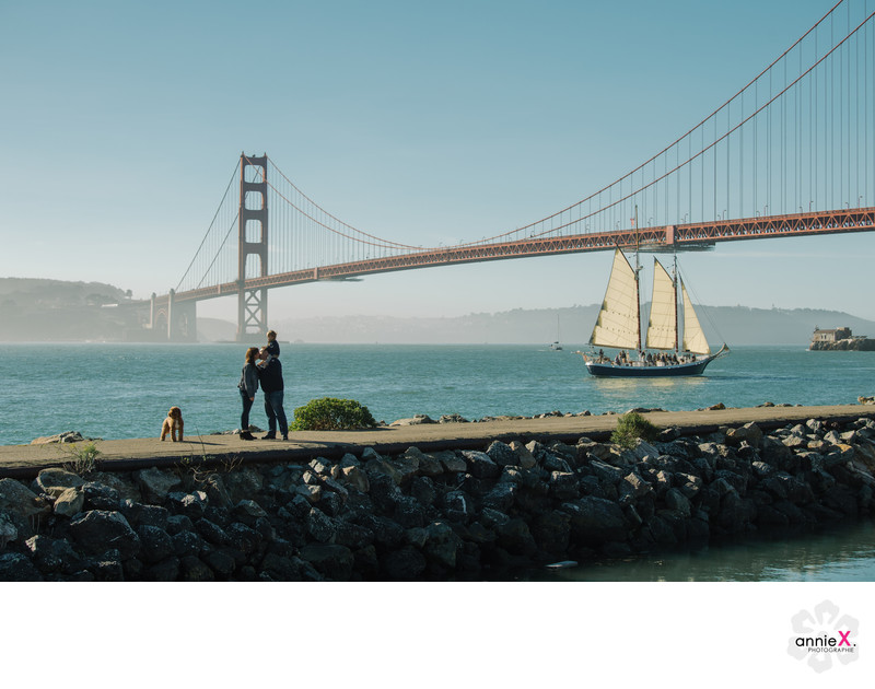 Lifestyle family portraits in Sausalito