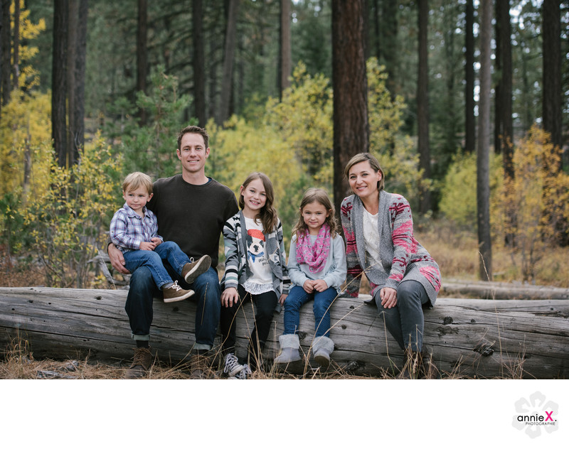 Locations for family portrait in Tahoe