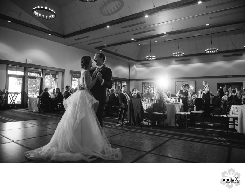first dance in Hyatt Tahoe ballroom