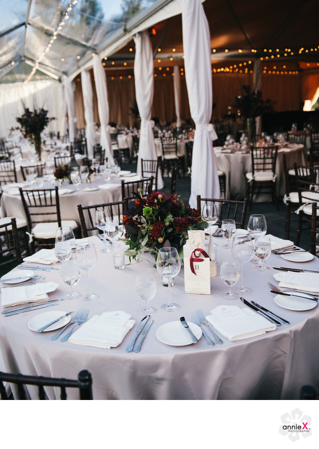Fall tent wedding in Martis Camp
