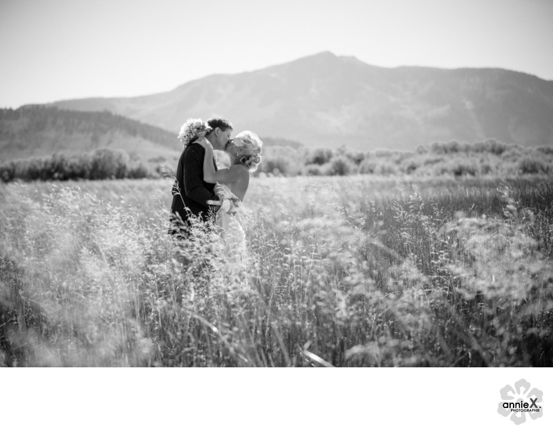 Black and white wedding photographer in south lake tahoe